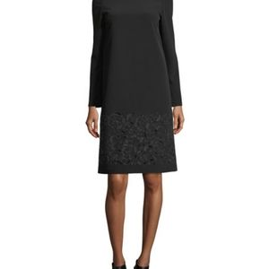 NWT Lafayette 148 New York Corbin Embroidered Emory Cloth A Line Back Zip Dress